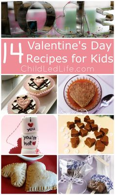 14 Valentines Day Recipes for Kids and Party in the Kids Kitchen Link Up on ChildLedLife.com