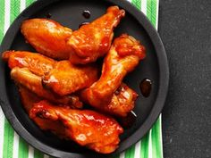 Alton Brown's Buffalo Wings -really good and crisp, simple, but need about 2+ hours to prepare/rest/cook