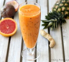 The Vitamin Booster Smoothie is loaded with health benefits and it provides more than your daily dose of vitamin C, not to mention plenty of fiber and potassium as well