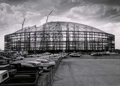 History goes by. Astrodome under construction, Shea Stadium, Yankee Stadium, Construction Safety, University Of Houston, Sports Stadium, Field Of Dreams, Texas History, 50 Years Ago, Historical Sites
