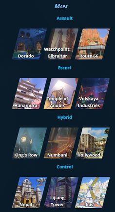Overwatch Maps and their game modes  [Overwatch Beta Thread: Cheers Love, The Beta's Here! - NeoGAF]