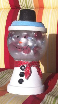 Frosty the Snowman Candy Jar Great by GlitzyCraftBoutique on Etsy, $15.99