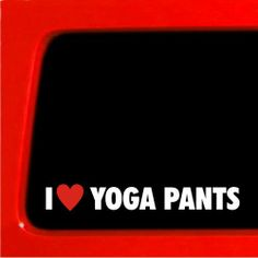 I heart Yoga Pants Sticker Girl sexy lips kiss jdm racing honda aum hot car pilates bikram Sticker Connection