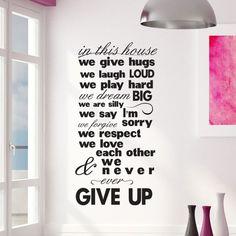 Αυτοκόλλητα τοίχου γράμματα - φράσεις :: We never give up
