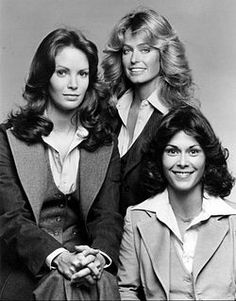 "*Charlie's Angels (1976 to 1981) - Farah Fawcett-Majors, Kate Jackson, Jaclyn Smith, Cheryl Ladd, Shelley Hack, Tanya Roberts & David Doyle.  Along with John Forsythe ""the voice"" of Charlie Townsend.  (from Wikipedia)"