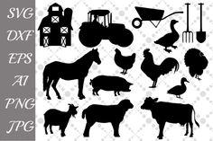 Free Svg Cut Files, Svg Files For Cricut, Animal Silhouette, Silhouette Cameo, Free Silhouette, Animal Cutouts, Baby Farm Animals, Cricut Explore, Svg Cuts