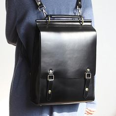 Best Womens Backpack Leather Structured Satchel Bag Purse In Stock: Days to Process OrdersInclude: A BackpackMaterial: CowhideColor: Coffee, Black, Brown Dimensions:M Inches: Height x Width x Depth L Inches: Height x Width x Depth Weight: 1 main slot, 1 i Best Leather Backpack, Leather Satchel, Leather Handbags, Trendy Backpacks, Girl Backpacks, Leather Backpacks, Satchel Backpack, Laptop Backpack, Girls Bags