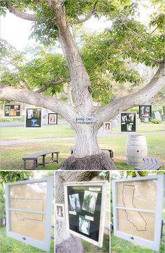 family tree photo display @weddingchicks