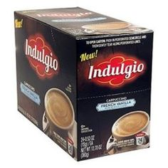 Indulgio French Vanilla Cappuccino Single Serve for Keurig K-Cup Brewers 24 C… French Vanilla Cappuccino, Fair Trade Coffee, K Cups, Keurig, Coffee Cans, Cappuccinos, Pots, Cookware, Jars