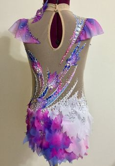 Etsy の Competition Rhythmic Gymnastics Leotard by Savalia Gymnastics Wear, Gymnastics Costumes, Gymnastics Competition, Rhythmic Gymnastics Leotards, Dance Costumes, Poppy Costume, Great Costume Ideas, Figure Skating Dresses, Ballroom Dress