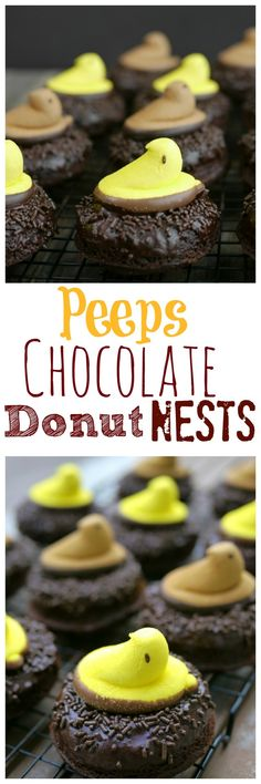 Peeps Chocolate Donut Nests from NoblePig.com.