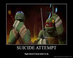 TMNT Poster - Suicide Attempt by Theanimekitty89.deviantart.com on @deviantART