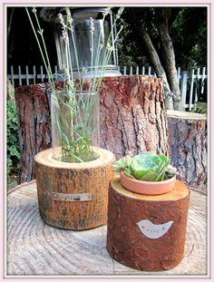 Handcrafted Wooden Vase. $32.00, via Etsy.