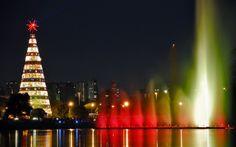 Christmas display. Christmas lights. Christmas around the world. Sao Paulo, Brazil.