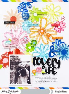 Hello Friends! Maryám here to share a new layout using the colorful Ain't Life Grand Collection. For this page, I wanted to do something diferent, so I chose a cut file from Just Nick Studio and then I send it to my silhoutte using a sketch pen instead of a blade.After that I decided to hand…