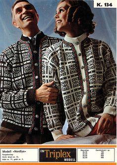 Ravelry: Nordlys pattern by Sandnes Garn Knitting Charts, Hand Knitting, Norwegian Knitting, Fair Isle Knitting, Vintage Knitting, Blazer, Cardigans For Women, Knit Cardigan, Knitting Patterns
