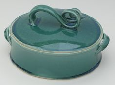 Emerald 2qt. Oval Cassarole Dish by SusanFontainePottery on Etsy