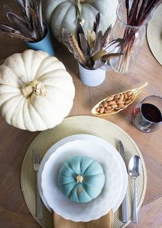 19 Festive Fall Table Decor Ideas That Will Last Until Thanksgiving via Brit + Co