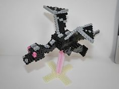DIY 3D Minecraft Ender Dragon perler beads - Photo Tutorial