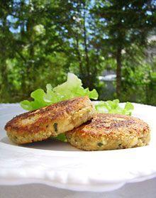 Croquettes moelleuses au poulet, courgettes & estragon ... Recyclage des restes de poulet -