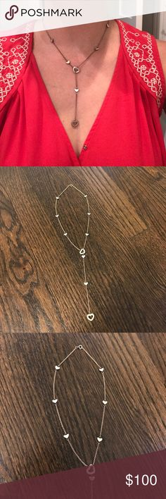 Tiffany and Co. Sterling Silver Heart Necklace This is a beautiful east lariat necklace that is sure to turn heads! Although previously worn, it is still in great condition. Authentic Tiffany mark on last photo. 100% authentic! Tiffany & Co. Jewelry Necklaces