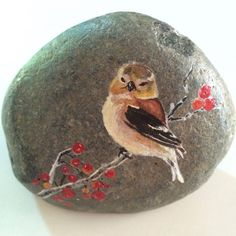 Handpainted on River rock A Sweet Tweet by PaintRiver on Etsy