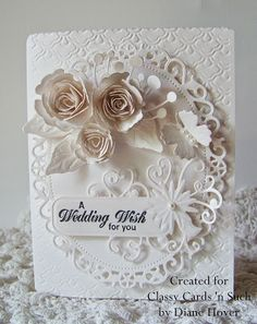 Diane shares her beautiful wedding card with us today. Find out how she put it all together here at http://classycardsnsuch.blogspot.com/2014/06/a-wedding-wish.html