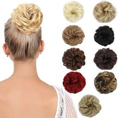 Synthetic Extensions Realistic Leeons Women Donut Chignon Curly Synthetic Hair Bun Hairpiece Extensions High Temperature Fiber Black Brown Chignon Hairpiece Hair Extensions & Wigs