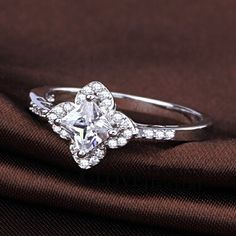 Find More Rings Information about Flowe Ring For Women Engagement Party Girls Fashion Jewelery 2015 New Trendy Zirconia White Rhinestone Luxury Accessories WX034,High Quality jewelry prop,China jewelry shapes Suppliers, Cheap jewelry moissanite from ULove Fashion Jewelry Store on Aliexpress.com