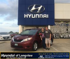 We had a great experience at Hyundai of Longview. Danny was very helpful in finding the used vehicle we wanted at the right price. He made the process very convenient and efficient. Thanks!  Erick and Heather Oynes Monday, May 18, 2015