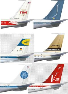 707-sample Cargo Aircraft, Old Planes, Galaxy Art, New Poster, 1960s, Aviation, Airports, Airplanes, Commercial
