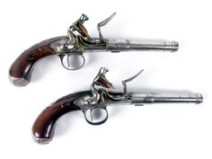 Pair of Queen Anne Flintlock Pistols by James Willmore, Circa 1740