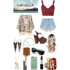 Untitled #77 by veggieranch on Polyvore featuring polyvore, fashion, style, Topshop, Nana Judy, Mojo Moxy, Billabong, Jules Smith and Laura Mercier