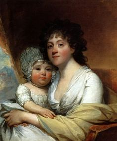 Elizabeth Corbin Griffin Gatliff And Her Daughter Elizabeth by Gilbert Stuart
