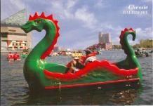 'Chessie' Paddle Boat in Baltimore's Inner Harbor