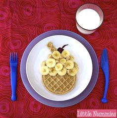 or cut the waffle into a cone shape for a cute ice cream cone version!
