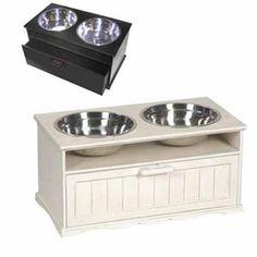 Mud Room. Dog bowls.