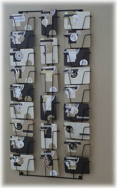 A great way to reuse a leaflet holder as an advent calendar