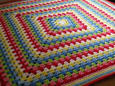 Granny Square Crochet Blanket Cath Kidston Colours by Thesunroomuk