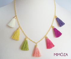 Multicolored tassel necklace via Etsy. Imagine all seven shimmying when you walk.