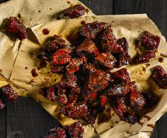 Burnt Ends. The savory bark trimmings of your beef are the most flavorful bits, serve them as a savory appetizer or keep them handy for a protein packed grab-and-go snack. Traeger Smoker Recipes, Pellet Grill Recipes, Jerky Recipes, Grilling Recipes, Traeger Grills, Grilled Brisket, Smoked Beef Jerky, Boneless Beef Short Ribs, Burnt Ends