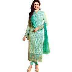 Partywear Designer Georgette Embroidered Salwar Kameez Suit India  #Designer #SalwarSuit #SalwarKameez #NewStuff #DressMaterial #ShopNow #LowestPrice #FreeShipping