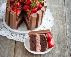 Recetas para niños: Tarta fácil de chocolate y fresas