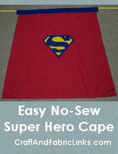 Quick and easy hero cape for your little hero.