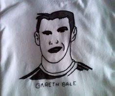 Gareth Bale on a shirt son