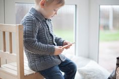 Cardigans – Gray merino wool sweater for children – a unique product by ShnopShnop on DaWanda