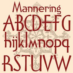 Mannering - new from Fontcraft