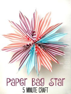 DIY Paper Bag Star -