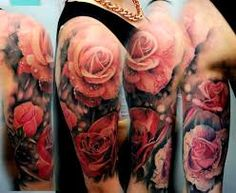 Image result for bird and flower sleeve tattoos