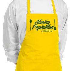 "Delantal. ""Alucino Pepinillos"". Impresión en vinilo textil - www.chefaporter.com Textiles, Apron, Ideas, Fashion, Cucumber, Aprons, Business, Pockets, Vinyls"